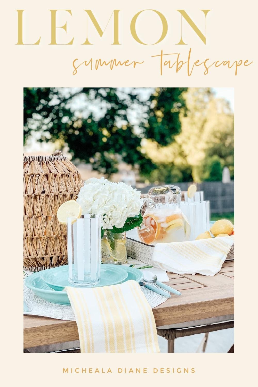 Lemon Summer Tablescape