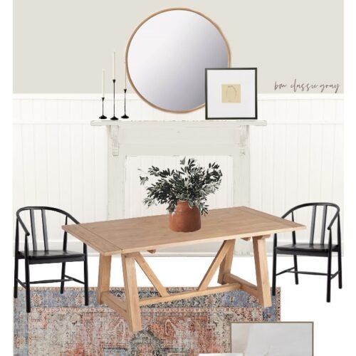 Modern Farmhouse Dining Room Style Board