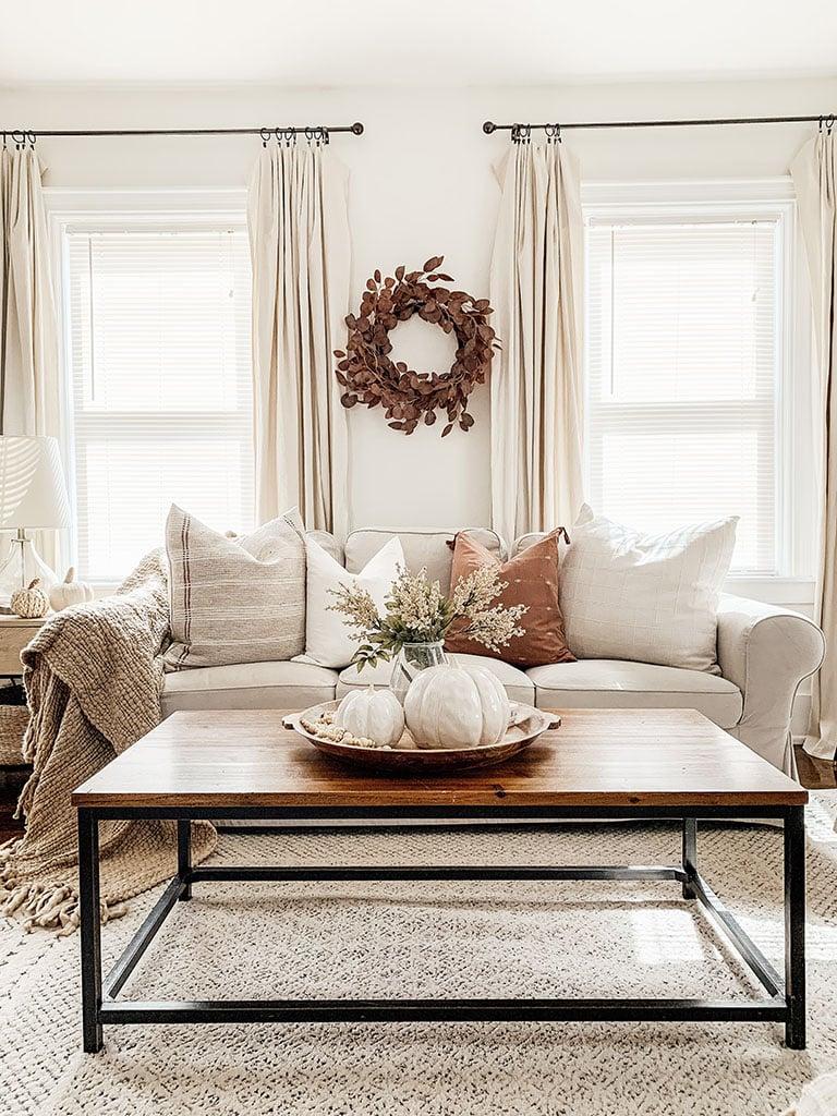 Neutral Fall Living Room Decor